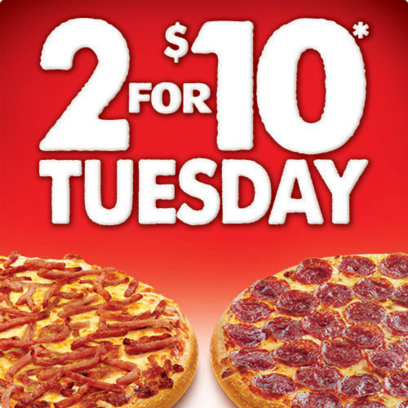 For a limited time only, Pizza Hut are offering Buy One Get One Free Pizzas on Tuesday (or 2 for Tuesdays)! This means you can get 2 pizzas for as little as $8 (for the $8 range), $13 for the Legends range and $16 for the Chicken and Prawn range!
