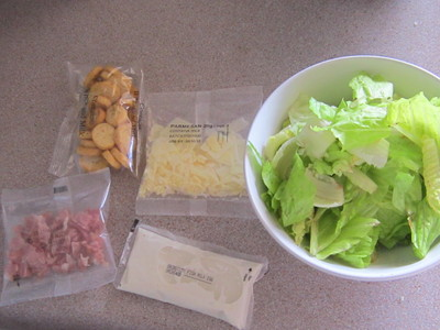 Components of Ceasar Salad Kit