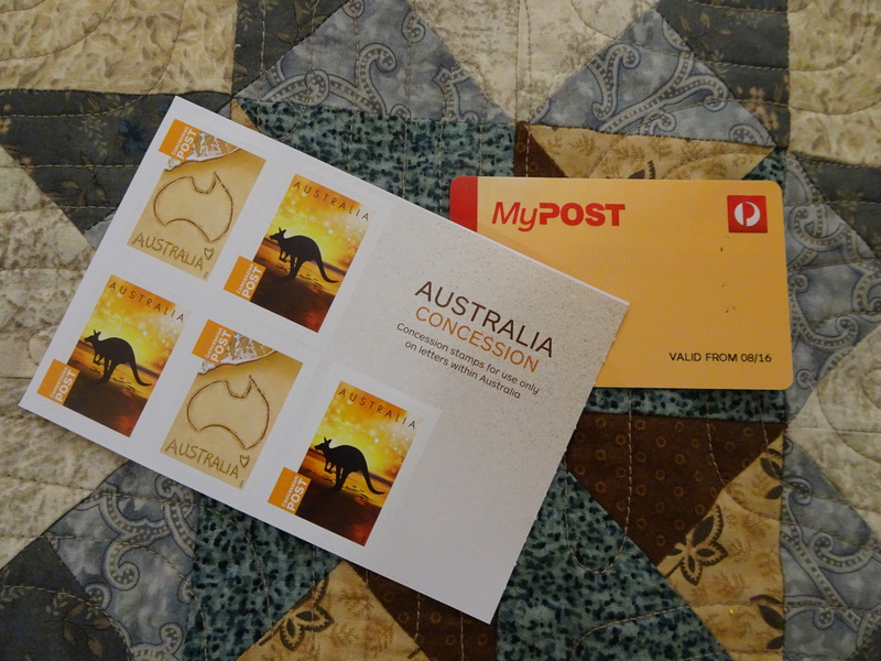Booklet of concession stamps  - Concession Postage Stamps