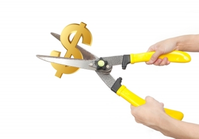 Cutting Dollar Sign. Saving. Frugal. Budget