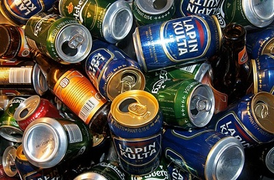 Empty Cans. Beer Cans