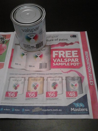 Free valspar paint sample pot