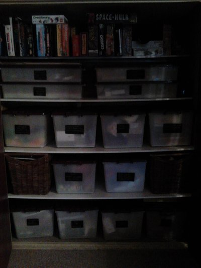 storage boxes organized