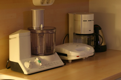 Kitchen appliances on bench