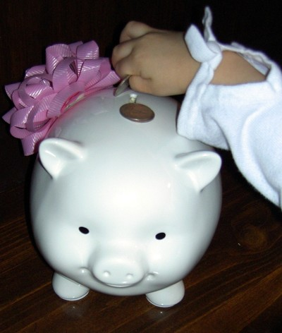 piggy bank saving money
