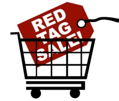 Red Tag Sale Sign