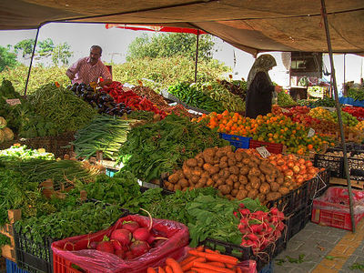 Wholesale fruit and vegetable market