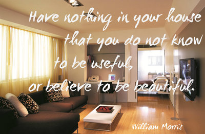 William Morris Quote, Minimalist