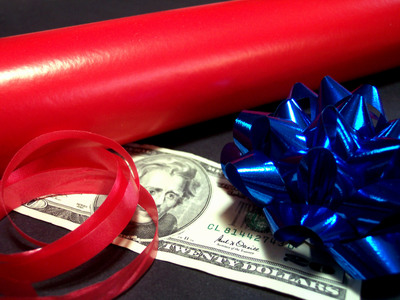 Wrapping Paper and Money